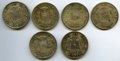 Chile, Chile: Republic Lot of Six 1 Peso Coins,... (Total: 6 coins)