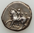 Ancients:Greek, Ancients: CALABRIA. Tarentum. Ca. 281-228 BC. AR didrachm or nomos(6.51 gm)....