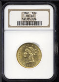 Liberty Eagles: , 1861 $10 MS60 NGC....