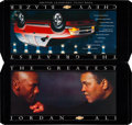 "Boxing Collectibles:Memorabilia, 1990's Muhammad Ali and Michael Jordan ""Chevy Blazer"" Promotional Piece...."