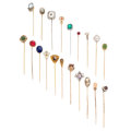 Estate Jewelry:Stick Pins and Hat Pins, Diamond, Multi-Stone, Cultured Pearl, Seed Pearl, Glass, Enamel,Gold, Mixed Metal Stickpins. ... (Total: 20 Items)