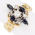 Estate Jewelry:Rings, Diamond, Sapphire, Gold Ring. ...