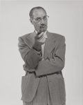 Photographs:Gelatin Silver, Philippe Halsman (American, 1906-1979). Groucho Marx, 1952. Gelatin silver. 13-7/8 x 11 inches (35.2 x 27.9 cm). Titled ...