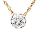 Estate Jewelry:Necklaces, Diamond, Gold Pendant-Necklace. . ...