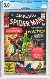 The Amazing Spider-Man #9 (Marvel, 1964) CGC GD/VG 3.0 Off-white to white pages