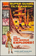 "Movie Posters:Science Fiction, The Night the World Exploded! (Columbia, 1957). One Sheet (27"" X41"") & Title Lobby Card (11"" X 14""). Science Fiction.. ...(Total: 2 Items)"