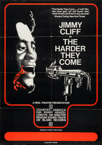 "The Harder They Come (Reel Theatre, R-1974). One Sheet (28"" X 40""). Blaxploitation"