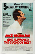 "Movie Posters:Academy Award Winners, One Flew Over the Cuckoo's Nest (United Artists, 1975).International One Sheet (27"" X 41"") Academy Awards Style. AcademyAw..."