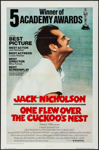 """One Flew Over the Cuckoo's Nest (United Artists, 1975). International One Sheet (27"""" X 41"""") Academy Awards Sty..."""