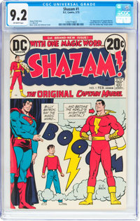 Shazam! #1 (DC, 1973) CGC NM- 9.2 Off-white pages
