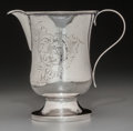 Silver Holloware, American:Coin Silver, A Guy Loomis & Co. Coin Silver Creamer, Erie, Pennsylvania,1837-1850. Marks: G LOOMIS, ERIE. 5-3/8 inches high (13.7cm...