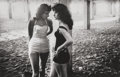 Photographs:Gelatin Silver, Steve Schapiro (American, b. 1934). Girls, Coney Island, 1959. Gelatin silver, printed later. 8-3/8 x 13 inches (21.3 x ...