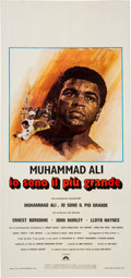 """Boxing Collectibles:Memorabilia, 1977 """"The Greatest"""" Movie Poster (Italy)...."""