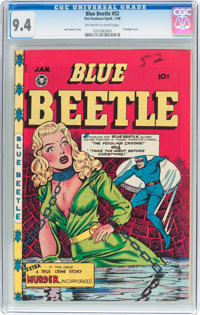 Blue Beetle #52 (Fox Features Syndicate, 1948) CGC NM 9.4 Off-white to white pages
