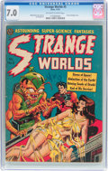 Golden Age (1938-1955):Horror, Strange Worlds #5 (Avon, 1951) CGC FN/VF 7.0 Off-white to whitepages....