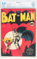 Batman #4 (DC, 1940) CBCS Restored VG/FN 5.0 Slight to Moderate (A) Off-white to white pages