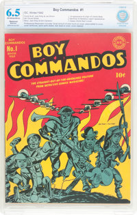Boy Commandos #1 (DC, 1942) CBCS Restored FN+ 6.5 Moderate (P)Off-white to white pages