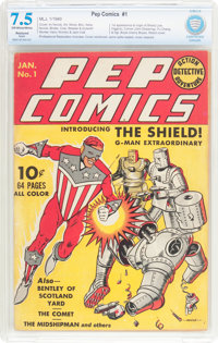 Pep Comics #1 (MLJ, 1940) CBCS Apparent VF- 7.5 Slight (P) Off-white to white pages