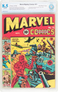 Golden Age (1938-1955):Superhero, Marvel Mystery Comics #11 Recil Macon Pedigree (Timely, 1940) CBCS VF+ 8.5 Off-white pages....