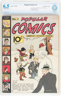 Popular Comics #1 Rockford Pedigree (Dell, 1936) CBCS FN+ 6.5 Off-white to white pages