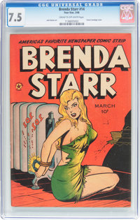 Brenda Starr #14 (#2) (Superior Comics, 1948) CGC VF- 7.5 Cream to off-white pages