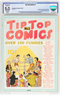 Platinum Age (1897-1937):Miscellaneous, Tip Top Comics #1 (United Features Syndicate, 1936) CBCS ApparentVG/FN 5.0 Moderate (A) Off-white to white pages....
