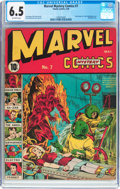 Golden Age (1938-1955):Superhero, Marvel Mystery Comics #7 (Timely, 1940) CGC FN+ 6.5 Off-white pages....