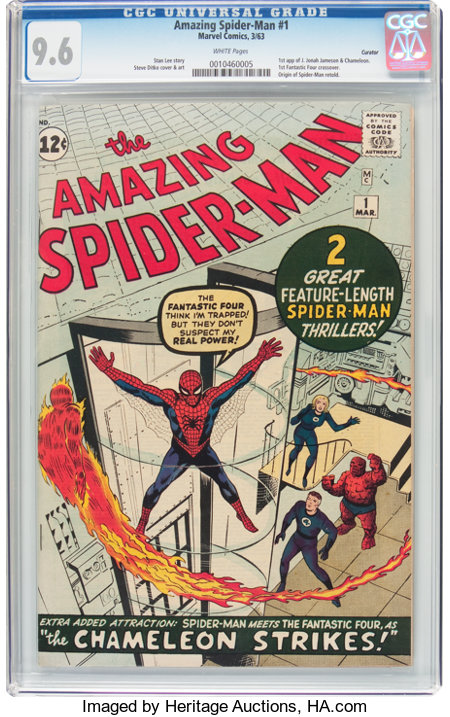 The Amazing Spider-Man #1 Curator Pedigree (Marvel, 1963) CGC NM+ 9.6 White pages....
