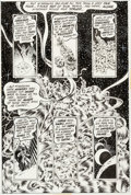Original Comic Art:Panel Pages, Bernie Wrightson Swamp Thing #8 Story Page 17 Original Art(DC, 1974)....