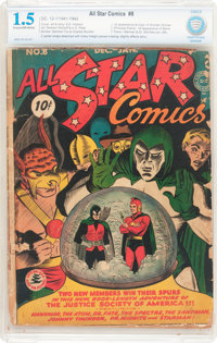 All Star Comics #8 (DC, 1942) CBCS FR/GD 1.5 Cream to off-white pages