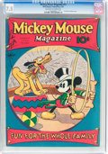 Platinum Age (1897-1937):Miscellaneous, Mickey Mouse Magazine #11 (K. K. Publications/Western PublishingCo., 1936) CGC VF- 7.5 Off-white to white pages....