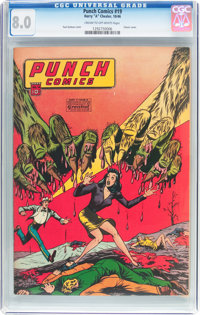 Punch Comics #19 (Chesler, 1946) CGC VF 8.0 Cream to off-white pages