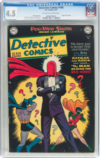 Detective Comics #168 (DC, 1951) CGC VG+ 4.5 Off-white to white pages