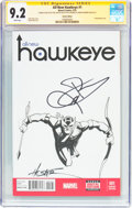 Modern Age (1980-Present):Superhero, All-New Hawkeye #1 Sketch Edition - Signature Series (Marvel, 2015)CGC NM- 9.2 White pages....