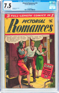 Golden Age (1938-1955):Romance, Pictorial Romances #19 (St. John, 1953) CGC VF- 7.5 Off-white towhite pages....