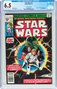 Star Wars #1 35¢ Variant (Marvel, 1977) CGC FN+ 6.5 Off-white to white pages
