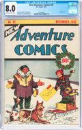 Golden Age (1938-1955):Adventure, New Adventure Comics #22 (DC, 1937) CGC VF 8.0 Off-white to white pages....