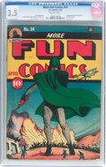 Golden Age (1938-1955):Superhero, More Fun Comics #54 (DC, 1940) CGC VG- 3.5 Off-white pages....