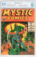 Golden Age (1938-1955):Superhero, Mystic Comics #1 (Timely, 1940) CBCS FN- 5.5 Off-white to white pages....