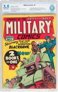 Golden Age (1938-1955):War, Military Comics #1 (Quality, 1941) CBCS VG- 3.5 Off-white to whitepages....