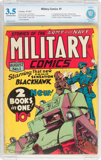 Military Comics #1 (Quality, 1941) CBCS VG- 3.5 Off-white to white pages