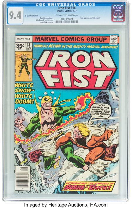 Iron Fist #14 35¢ Price Variant (Marvel, 1977) CGC NM 9.4 Off-white to white pages....
