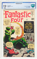 Silver Age (1956-1969):Superhero, Fantastic Four #1 (Marvel, 1961) CBCS FN/VF 7.0 Cream to off-whitepages....