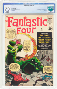 Fantastic Four #1 (Marvel, 1961) CBCS FN/VF 7.0 Cream to off-white pages