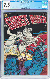 Ghost Rider #1 (Magazine Enterprises, 1950) CGC VF- 7.5 Cream to off-white pages