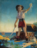 Mainstream Illustration, American Artist (20th Century). Pirates Booty. Oil oncanvas. 22.25 x 17 in.. Not signed. The Bob and Diane YaspanC...