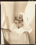 Photographs, Edward Steichen (American, 1879-1973). Lili Damita, May 15, 1928. Gelatin silver contact print. 9-3/8 x 7-1/2 inches (23...