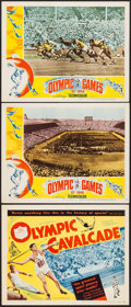 "Movie Posters:Sports, Olympic Cavalcade & Other Lot (United Artists, 1948). Title Lobby Card & Lobby Cards (2) (11"" X 14""). Sports.. ... (Total: 3 Items)"