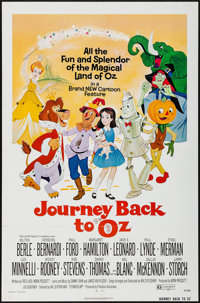 "Journey Back to Oz & Others Lot (Filmation, 1974). One Sheets (38) (27"" X 41""), Trimmed One Sheets (2)..."