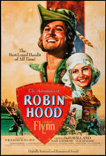 "Movie Posters:Swashbuckler, The Adventures of Robin Hood (Warner Brothers, R-1989). One Sheet (27"" X 40"") SS. Swashbuckler.. ..."